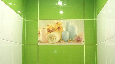 """Укладка плитки в ванной. Ремонт ванной комнаты под ключ. Сделано ООО """"Русстрой"""" г. Калуга"""""""