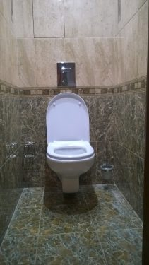 Отделка туалетной комнаты плиткой 'под ключ'. Русстрой г. Калуга