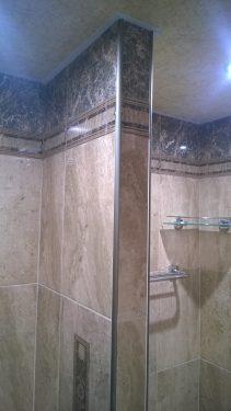 Гипсокартоновая перегородка в ванной, отделка плиткой