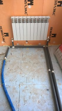 Монтаж системы отопления с трубами из полипропилена. Русстрой г. Калуга