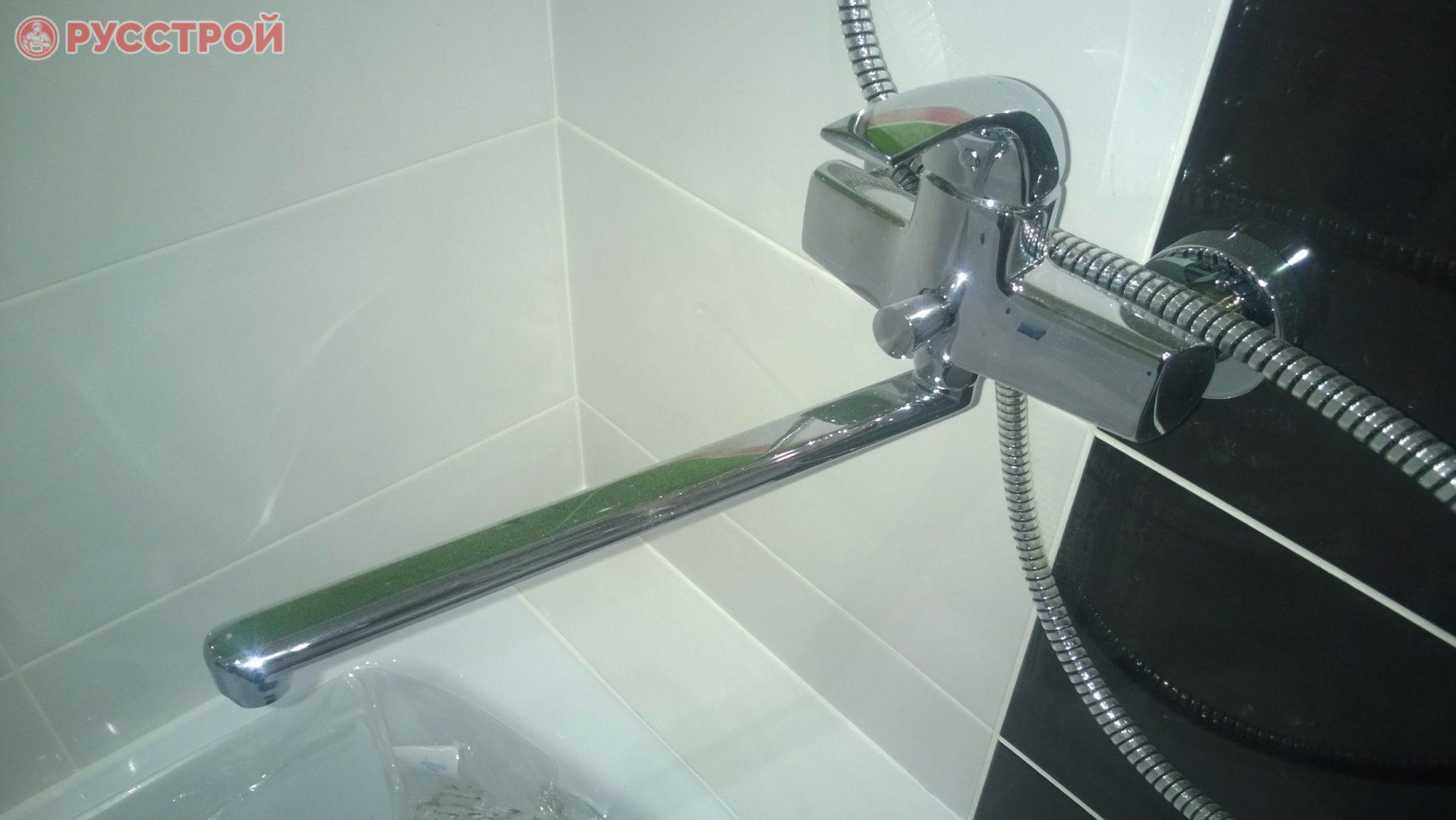 Установка новых смесителей в ванной. Русстрой г. Калуга