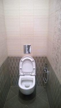 Отделка туалета 'под ключ'. Укладка плитки, замена унитаза. Русстрой г. Калуга