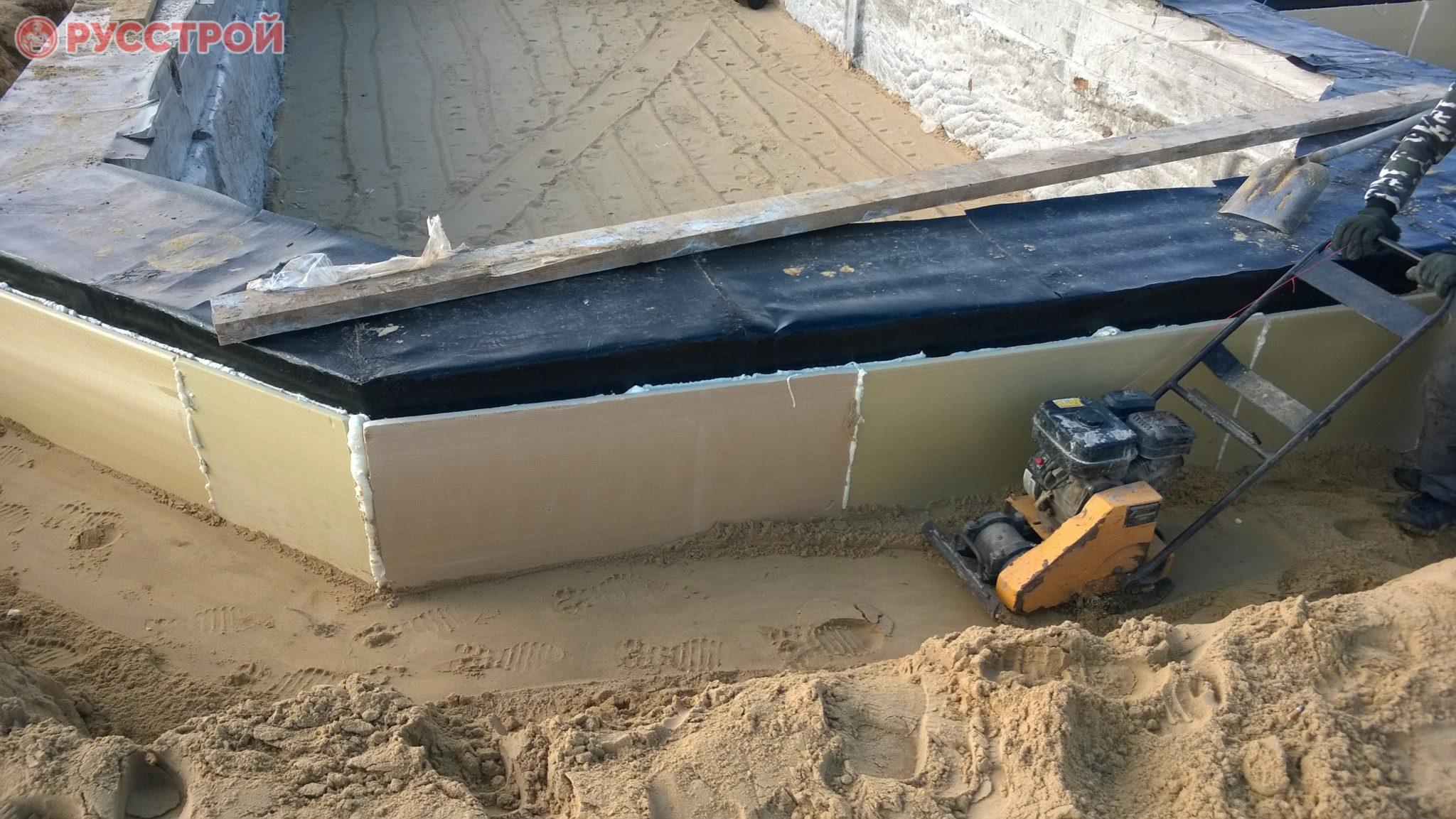 Гидроизоляция фундамента при строительстве дома. Строительная компания Русстрой г. Калуга