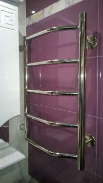 Установка сушилки в ванной. Русстрой г. Калуга