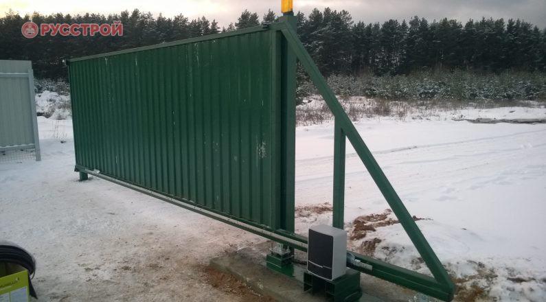 Автоматические раздвижные ворота под ключ