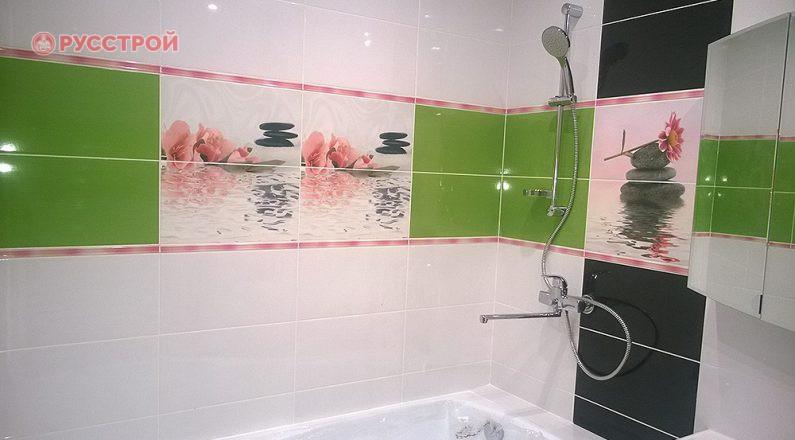 """Установка ванной, подключение смесителя, душа, сантехники. Ремонт в ванной код ключ. Сделано ООО """"Русстрой"""" г. Калуга"""