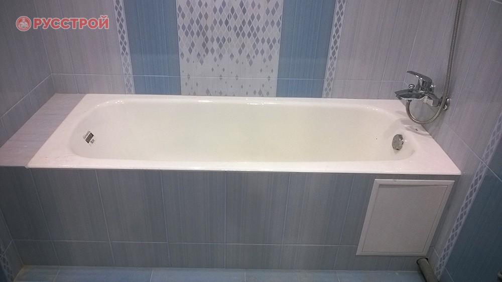 Установка ванной, подключение смесителя, душа, сантехники. Ремонт в ванной код ключ. Сделано ООО 'Русстрой' г. Калуга