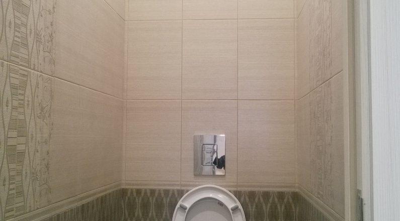 Туалет, бачок омывателя встроен в стену