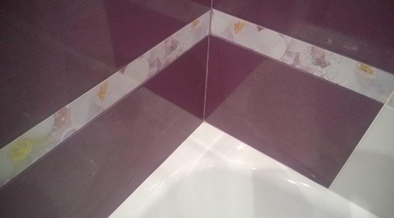 Ванная комната после ремонта, новая плитка