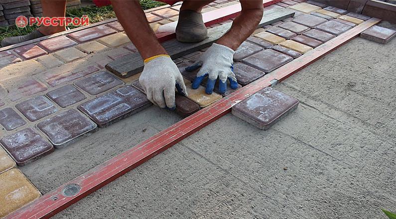 Тротуарная плитка на раствор