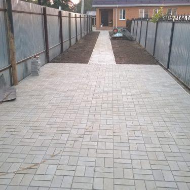 Укладка плитки для парковочного места