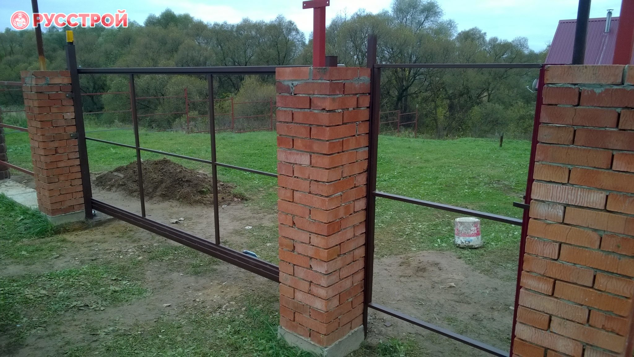Сварка каркаса ворот и калитки