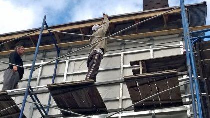 подшивка крыши вентилируемым софитом