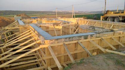 Стены будущего дома готовы!
